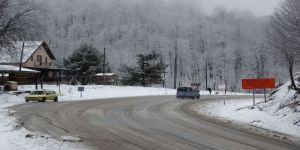 Domaniç Kocayayla'da kar yağışı