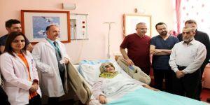Kalbe giden damarı yırtılan kadın, anjiyo ameliyatıyla sağlığına kavuştu