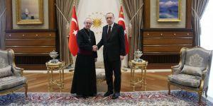 Erdoğan, Başpiskoposu kabul etti