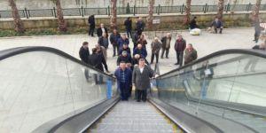 Yürüyen merdiven hizmet vermeye başladı