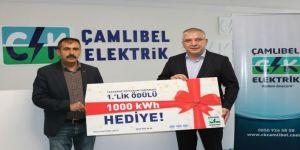 CK Çamlıbel Elektrik'ten tasarruf yapan ailelere bedava elektrik