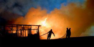 Çöp deposunda yangın: 9 ölü
