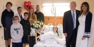 Trump, okul saldırısında yaralananları ziyaret etti