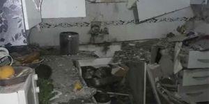 Evin mutfağına roket düştü