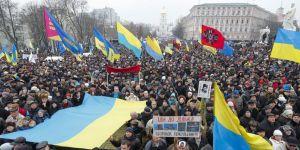 Ukrayna'da Saakaşvili'ye destek gösterisi