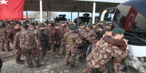 Özel harekat polisleri Afrin'e uğurlandı !