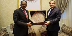 Çavuşoğlu, Somali Cumhurbaşkanı ile görüştü