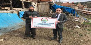 Hibe desteği alan genç çiftçilere ziyaret