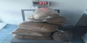 67 kilo kaçak tütün ele geçirildi