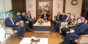 Başkanlar Bakan Özlü ile görüştü