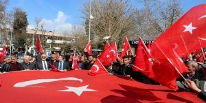 'Mehmetçiğe bir ses, bir nefes de sen ol' mitingi düzenlendi
