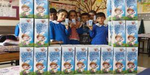 Okullarda süt dağıtımı devam ediyor