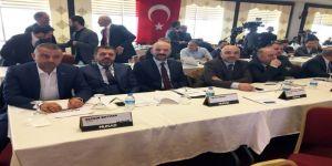 Başkanlar toplantısı için Kilis'teydi