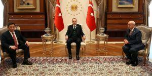 Erdoğan, Moğolistan Meclis Başkanı'nı kabul etti