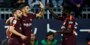 Barcelona, Malaga'yı 2-0 mağlup etti