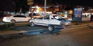 Freni boşalan otomobil takla attı: 5 yaralı
