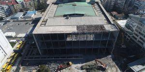 AKM'nin yıkımındaki son durum havadan görüntülendi
