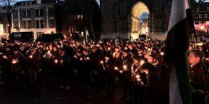Hollanda'da 'Suriye için ışık' gösterisi