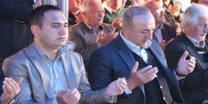 Çavuşoğlu, şehit için okutulan mevlide katıldı