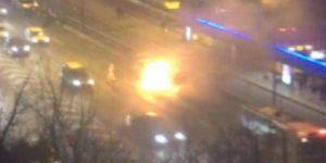 Seyir halindeyken yanmaya başladı !