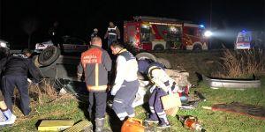 Feci kaza: 3 ölü 2 yaralı