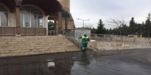 Okul ve ibadethanelerde temizlik çalışması