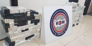 6 bin 200 paket kaçak sigara ele geçirildi