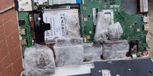 Laptop içerisine gizlenmiş esrar ele geçirildi