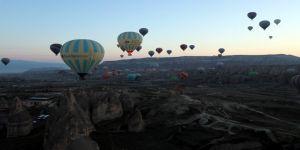 Kapadokya'da balon turlarına olumsuz hava engeli