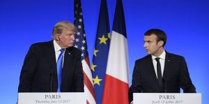 Macron ve Trump Suriye'yi görüştü