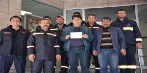 Belediye personelinden Mehmetçiğe destek