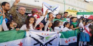 Halep'te Afrin'in kurtuluşu kutlandı