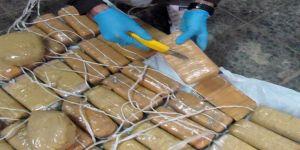 Piyasa değeri 55 milyonluk uyuşturucu ele geçirildi