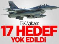 17 PKK İni Yok Edildi