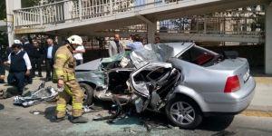Düğün konvoyunda kaza: 1 ölü, 1 yaralı