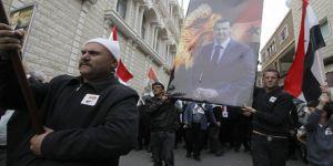 Şam'da Esad'ı destekleyen gösteriler