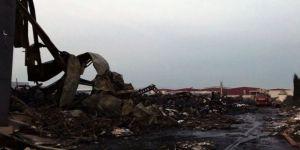 Fabrikada çıkan yangın 24 saat sonra söndürüldü