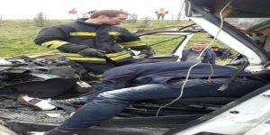 Otobanda kaza: 1 ölü, 1 yaralı