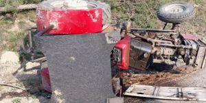 Traktör kazası: 1 yaralı
