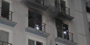 Öğrenci apartında yangın
