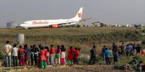 Uçak pistten çıktı