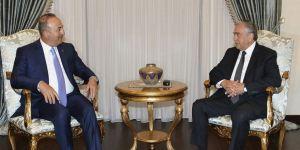 Bakan Çavuşoğlu, KKTC Cumhurbaşkanı ile bir araya geldi