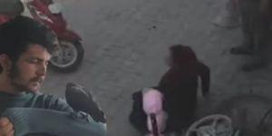 Hamile kadını tekme tokat dövdü