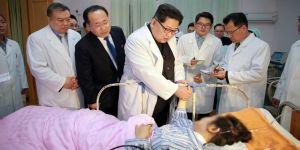 Kim'den kaza geçiren Çinlilere ziyaret