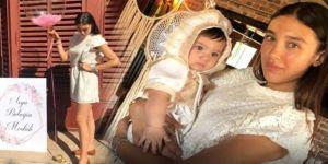 Bebeğinin mevlidinde giydiği mini elbise olay oldu!