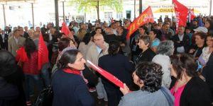 HDP'li vekil CHP'yi eleştirdi, CHP'liler alanı terk etti