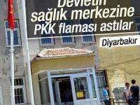 Diyarbakır'da sağlık merkezine PKK flaması!