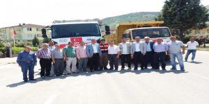 Afrin için hazırlanan yardım kamyonları yola çıktı