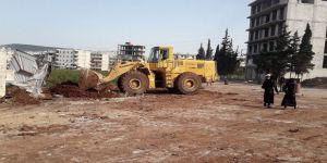 Afrin'de teröristlerin izleri temizleniyor