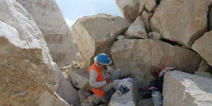 Mermer ocağında iş kazası: 1 yaralı